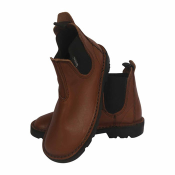 Oil Brown Kids/Junior Leather Boots