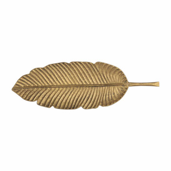 Small Metal Leaf Platter