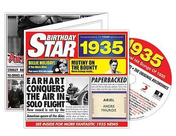 CD Cards Birthday Star 1935