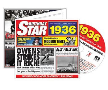 CD Cards Birthday Star 1936