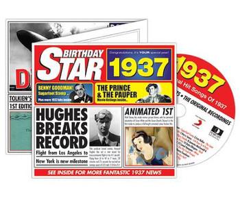 CD Cards Birthday Star 1937