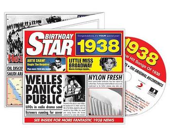 CD Cards Birthday Star 1938