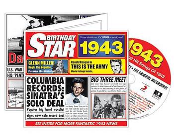 CD Cards Birthday Star 1943
