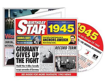 CD Cards Birthday Star 1945