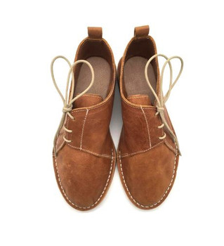 Ladies Side lace Boot Toffee