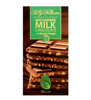 Sally Williams Mint Milk Choc Bar 80g