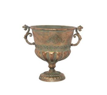 Seville Copper Handled Vase (34cm)