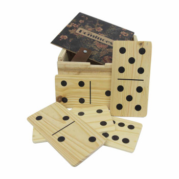 Domino Holder with Giant Dominoes - Floral