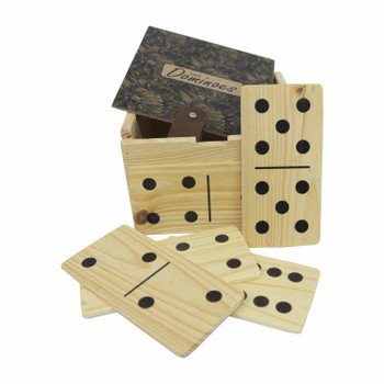 Domino Holder with Giant Dominoes - Fern