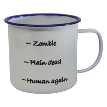 Engraved Enamel Mug - Human Again