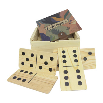 Domino Holder With Giant Dominoes - Pastel