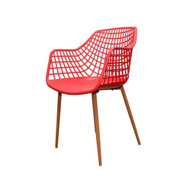Red Crosshatch Chair
