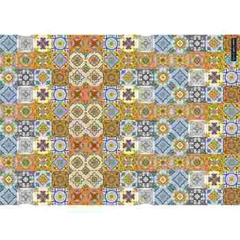 Gift Wrap Paper - Blue & Orange Mosaic