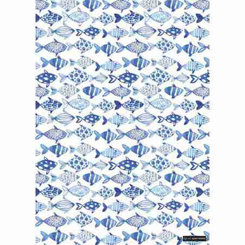 Gift Wrap Paper  - Blue Fish