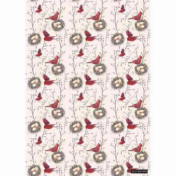 Gift Wrap Paper  - Red Bird