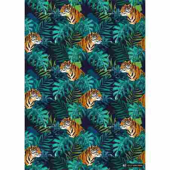 Gift Wrap Paper  - Tiger Forest