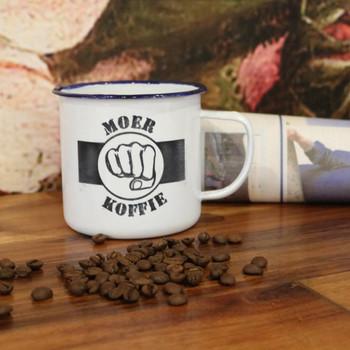 Engraved Enamel Mug - Moer Koffie