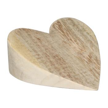 Wooden Door Stopper - Heart Shape (15x7x17cm)