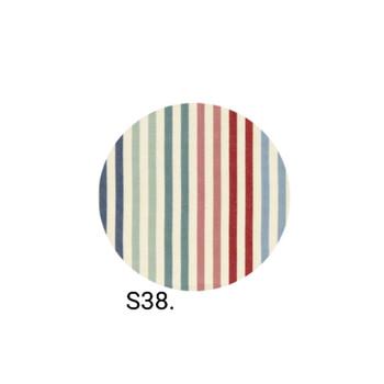 Multi Colour Narrow Stripe Earring