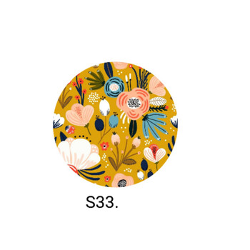 Mustard Abstract Flowers Earrings