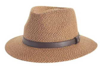 Hugh Trilby Chocolate Hat - 58cm