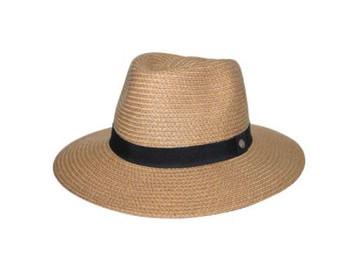 Braided Fedora Caramel Hat - 58cm