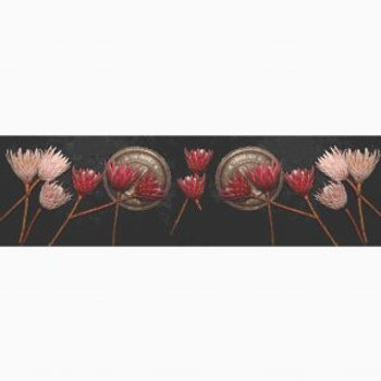 Natural Weave Red/Pink Protea Vintage Plate Table Runner