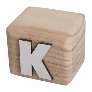 BLOCKK White Handcrafted Letter K