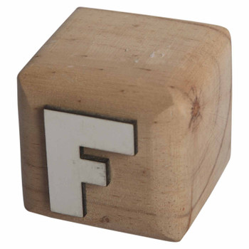 BLOCKF White Handcrafted Letter F