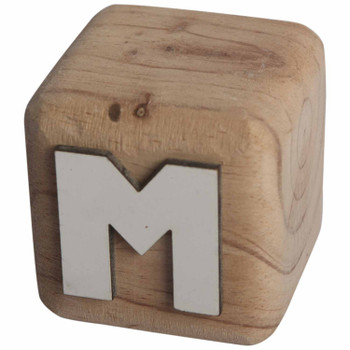 BLOCKM White Handcrafted Letter M
