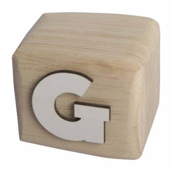 BLOCKG White Handcrafted Letter G
