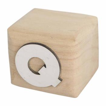 BLOCKQ White Handcrafted Letter Q