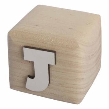 BLOCKJ White Handcrafted Letter J