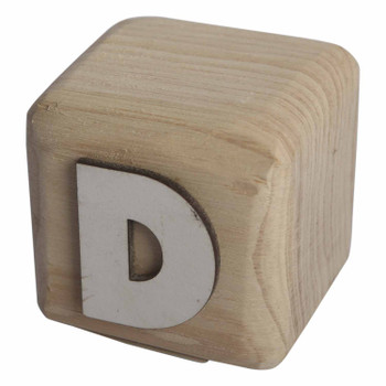 BLOCKD White Handcrafted Letter D
