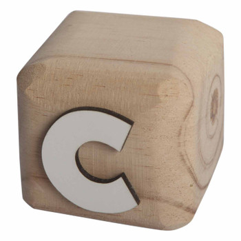 BLOCKC White Handcrafted Letter C