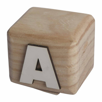 BLOCKA White Handcrafted Letter A