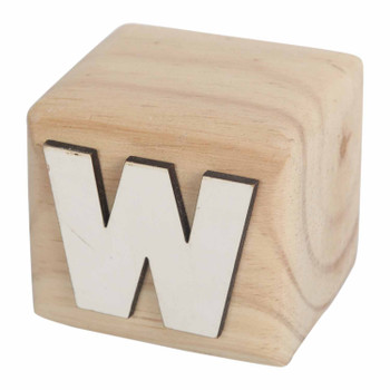 BLOCKW White Handcrafted Letter W