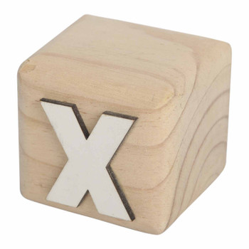 BLOCKX White Handcrafted Letter X