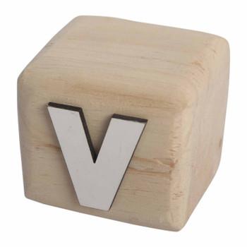 BLOCKV White Handcrafted Letter V