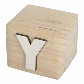 BLOCKY White Handcrafted Letter Y