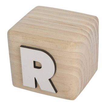 BLOCKR White Handcrafted Letter R