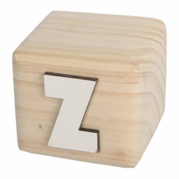 BLOCKZ White Handcrafted Letter Z