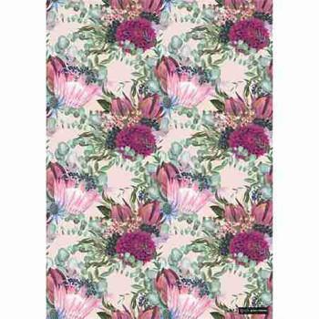 Gift Wrap Paper - Protea & Chrysanthemum