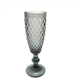 Champagne Glass - Grey (6x20cm)