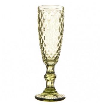 Champagne Glass - Green (6x20cm)