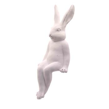 Large Ceramic White Sitting Bunny (45cm)