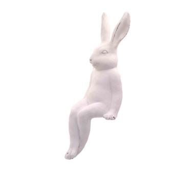 Small Ceramic White Sitting Bunny (38cm)