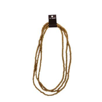 String of Wooden Beads 95cm - Glitter Gold