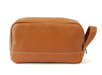Will Large Leather Washbag / Toiletry Bag