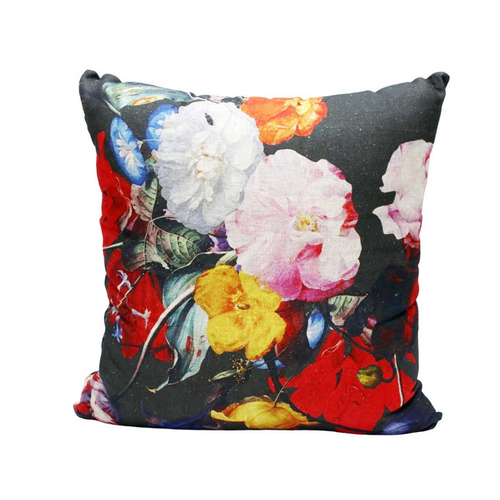 Baroque Floral Charcoal Scatter Cushion 60x60cm